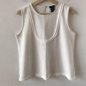 Ann Taylor white boho sleeveless top